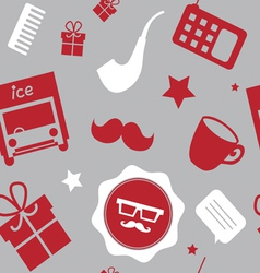 Holiday pattern hipster style vector