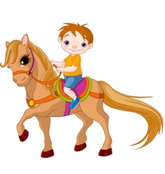 horse riding vector image