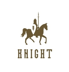 Knight on horseback with a chain mail armor vector