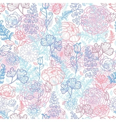 Morning colors floral seamless pattern background vector image vector image