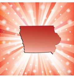 Red Iowa vector image vector image