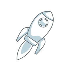 rocket startup business creativity innovation vector image vector image