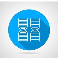 Round icon for DNA vector image