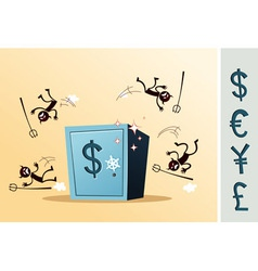 safe deposit box protected from thief vector image vector image