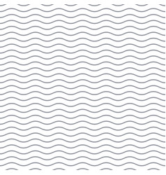 seamless wavy line pattern vector image