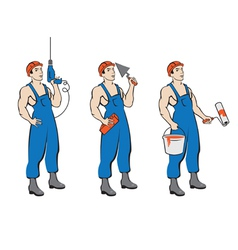 Set of building trades vector image