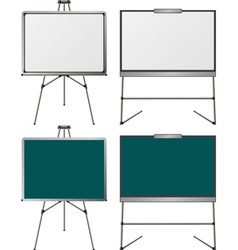 set of easels first variant vector image vector image