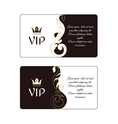set of two elegant horizontal discount cards in vector image vector image