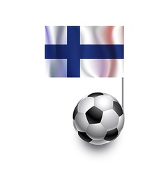 Soccer Balls or Footballs with flag of Finland vector image vector image