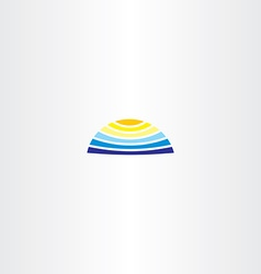 summer logo water sun icon vector image vector image
