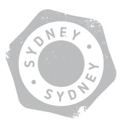 Sydney stamp rubber grunge vector
