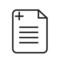 Thin line medical recipe icon vector