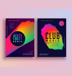 Vibrant music party flyer template design vector