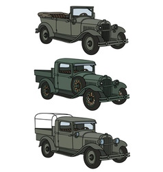 Vintage military cars vector image vector image