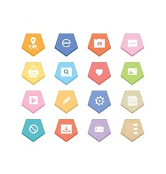 Web Colorful Icons vector image vector image
