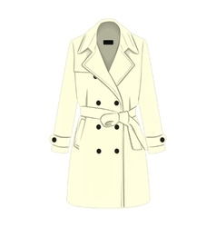 Womens coat with a belt vector