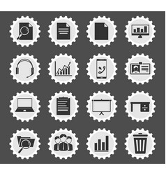 Office simply icons vector