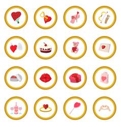 Love cartoon icon circle vector