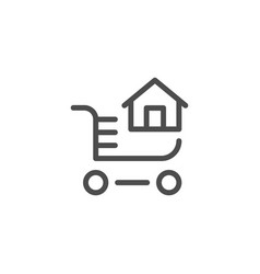 home buying line icon vector image