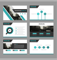 Green black business presentation templates vector