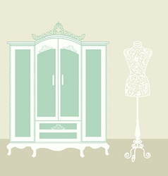 Dressing room vintage vector