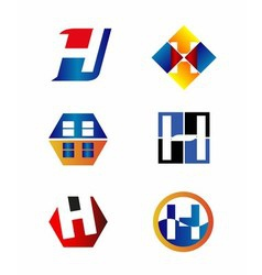 Letter h logo icon template vector