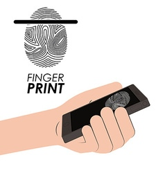 Finger print design vector