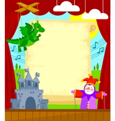 Puppet theater vector