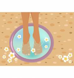 Pedicure vector