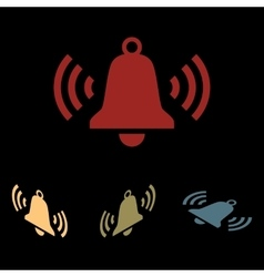 Ringing bell icon set vector