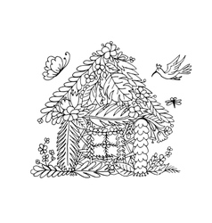 Tropical house sketch for your design vector image