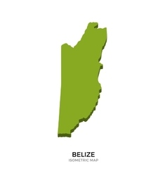 Isometric map of Belize detailed vector image