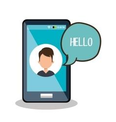 Internet communication design vector