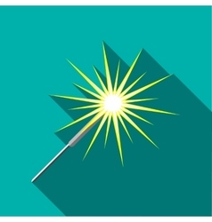 Sparkler icon flat style vector