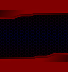 abstract honeycomb black design with red frame vector image