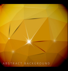 abstract yellow background made from triangles vector image vector image