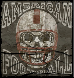 American football vintage print for boy vector