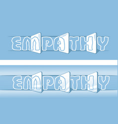 Banner of empathy symbol vector