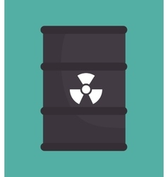 barrel nuclear radiation design isolated vector image