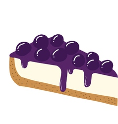 Blueberry cheesecake vector image vector image