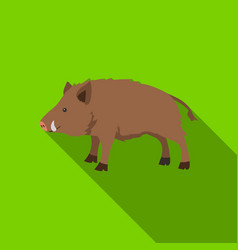 Boar icon in flat style isolated on white vector