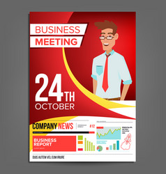 business meeting poster businessman vector image
