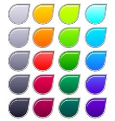 button drop vector image vector image
