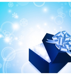 christmas magic gift box vector image vector image