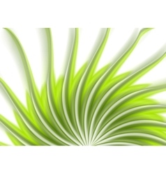 Green swirl wavy beams abstract background vector