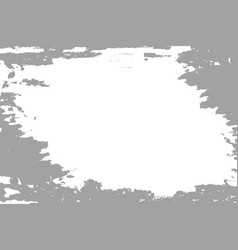 Grey paint on white background vector