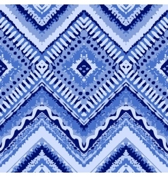 Hand drawn painted seamless blue pattern vector image vector image