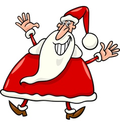 happy santa claus cartoon vector image
