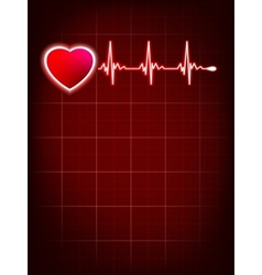 Heartbeat monitor electrocardiogram EPS 10 vector image vector image