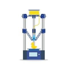 icon - 3d printer printering a toy vector image vector image